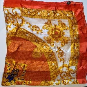 Silk scarf baroque square 36""
